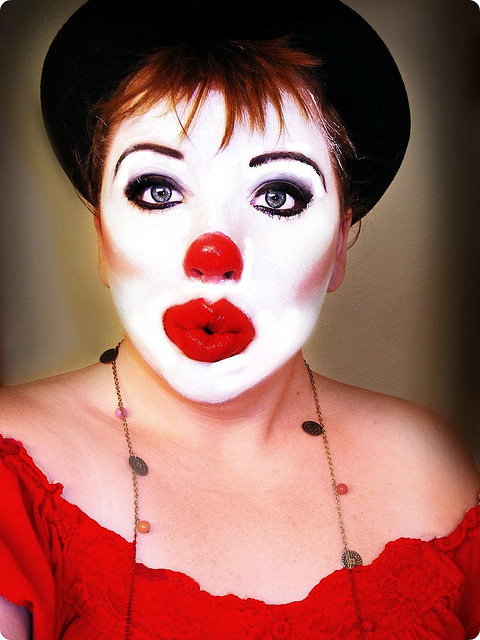 January 4  2012 circus clowns grease greasy face makeup womens makeupHappy Clown Faces Makeup